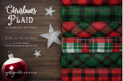 Christmas Plaid Digital Patterns