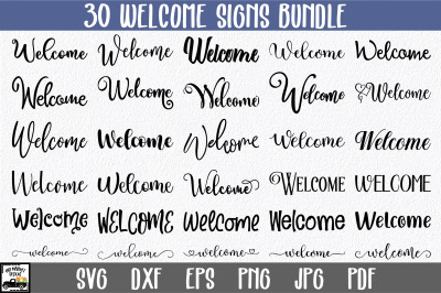 Welcome SVG Bundle - Welcome Sign SVG File
