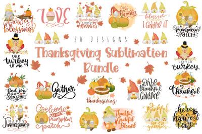 Thanksgiving Sublimation Bundle, Thanksgiving Quotes Bundle