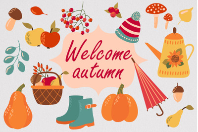 Welcome autumn SVG File