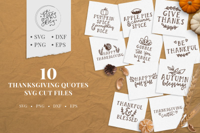 Thanksgiving Quotes SVG Cut Files