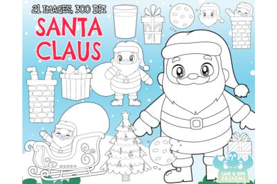 Santa Claus Digital Stamps - Lime and Kiwi Designs
