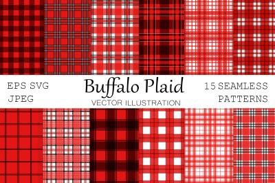Buffalo plaid. Plaid pattern. Red Buffalo plaid. Plaid SVG