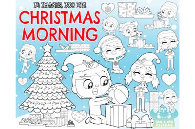 Christmas Morning Digital Stamps - Lime and Kiwi Designs