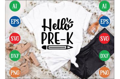 Hello PRE-K svg design