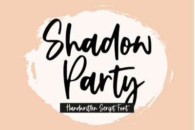 Shadow Party Handwritten Script Font