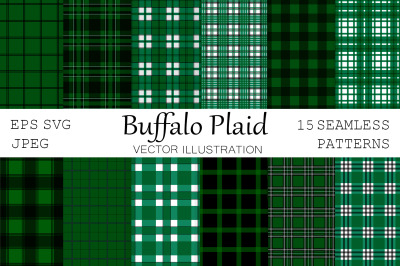 Buffalo plaid. Plaid pattern. Green Buffalo plaid. Plaid SVG