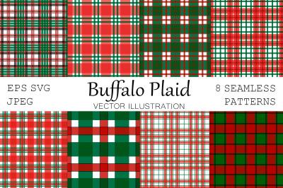 Buffalo plaid. Plaid pattern. Plaid SVG. Red and green plaid
