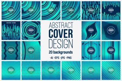 20 abstract creative cover design templates