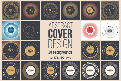 20 abstract cover design templates