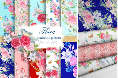 Floral Pattern, Lilies and roses,