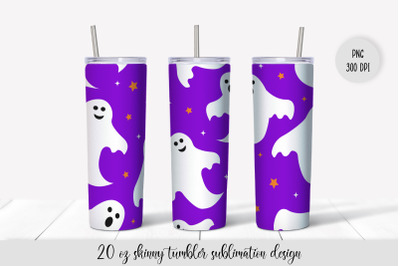 Cute Ghosts Halloween Skinny Tumbler Sublimation Wrap