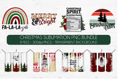 Christmas Sublimation Bundle Vol2|Holiday PNG Design Bundle