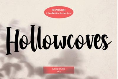 Hollowcoves Handwritten Display Font