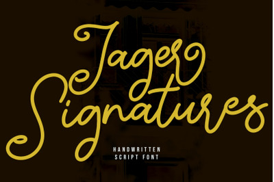 Jager Signature Handwritten Script Font