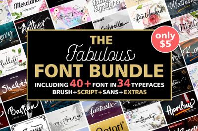 The Fabulous Font Bundle