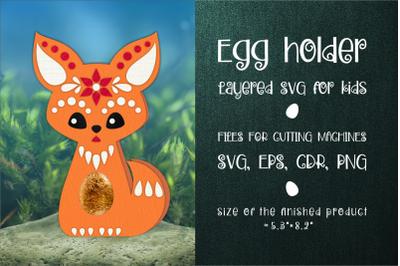 Fox Chocolate Egg Holder Template SVG