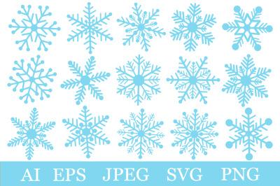 Snowflakes SVG. Christmas Snowflakes. Snowflakes graphics