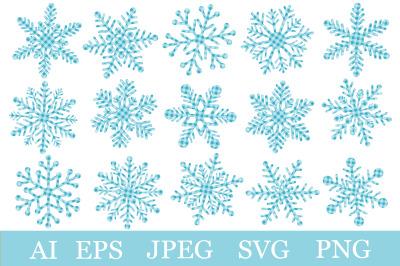 Snowflakes plaid print. Snowflakes SVG. Christmas Snowflakes