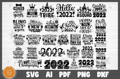 2022 Happy New Year Bundle SVG Cut Files