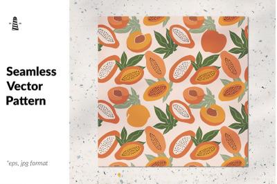 Papayas and peaches pattern