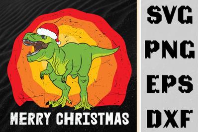 Merry Christmas T-Rex Dinosaur