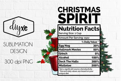 Christmas Spirit | Christmas Sublimation Png