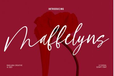 Maffelyns Script Font