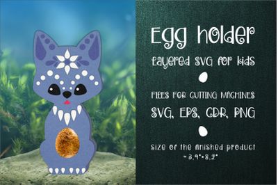 Wolf Chocolate Egg Holder Template SVG