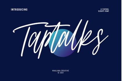 Taptalks Script Font