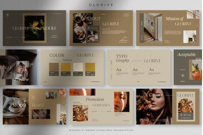 Glorive - Natural Minimalist Brand Guide PPT