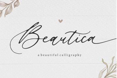 Beautica Beautiful Calligraphy Font