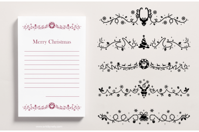 Christmas SVG illustration for dividers, headers, or footers.