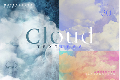 Cloudy Watercolor Abstract Textures