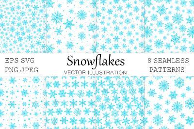 Snowflakes pattern. Christmas Snowflakes. Snowflakes SVG