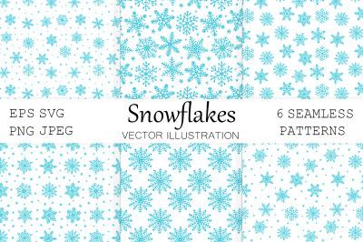 Snowflakes pattern. Snowflakes plaid print. Snowflakes SVG