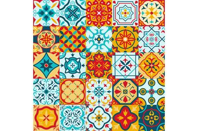 Mexican talavera, portuguese azulejo traditional ceramic tile patterns