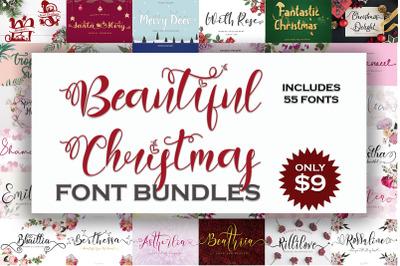 Beautiful  Christmas Font Bundles
