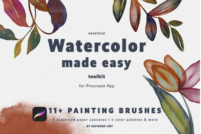 Watercolor Made Easy Procreate Brushes