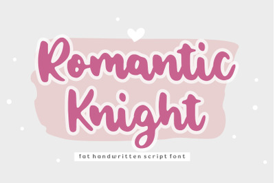 Romantic Knight Handwritten Script Font