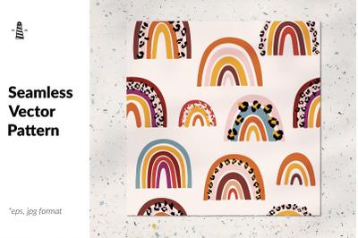 Wild rainbows seamless pattern