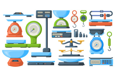Store electronic and mechanical scales for weight measuring. Market or