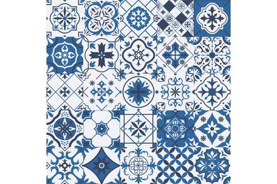 Traditional mexican and portuguese porcelain ceramic tile patterns. Az