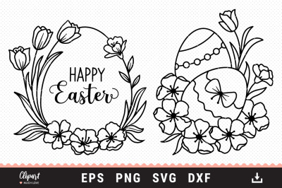 Easter egg svg, Happy Easter svg files Cricut, Silhouette dxf