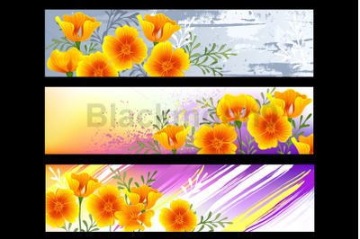California Poppy Banners