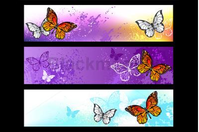 Monarch Butterflies Banner
