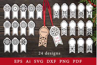 Decorative gift tags. SVG for cutting