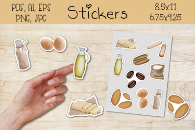 Printable Stickers and for the GoodNotes app.baking products