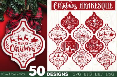 Christmas Arabesque Tile SVG Bundle 50 designs