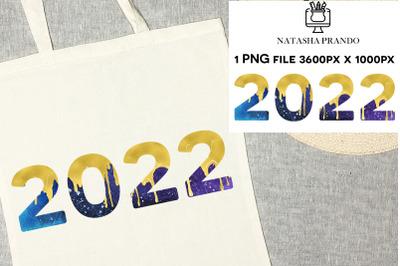 2022 blue gold drip Sublimation Design